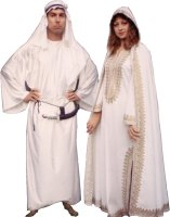 Arabian Lady Costume, White, Size Medium