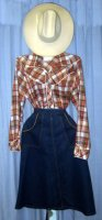 Western Girl Costume, Size 5 - 16, Small - Large