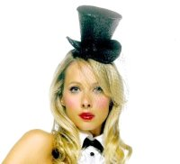 MINI GLITTER TOP HAT BY LEG AVENUE!