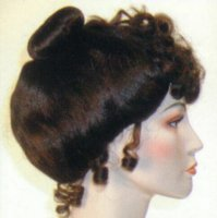 GIBSON GIRL WIG - Medium Brown