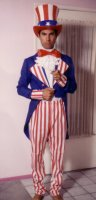 Uncle Sam Costume Size SM-MD 42""