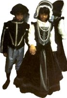 Renaissance Lord Child Costume Size 8-10 Child