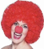 CLOWN WIG - MEDIUM - Red Afro
