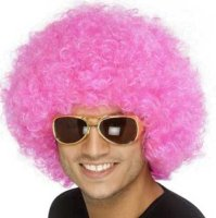 CLOWN WIG - DISCOUNT - Pink