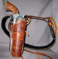 Gun Belt Brown Costume Size 39 - 43
