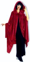 VELVET CAPE w/ HOOD in BURGUNDY