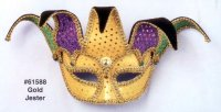 JESTER MASK, 1/2 MASK WITH SPARKLE