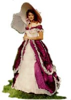 Southern Belle Costume Size 5, Pink & Purple