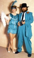 "Gangster Zoot Suit Costume, Size 46"" - 48"" Long"