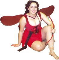 Cupid Costume, Small, Red