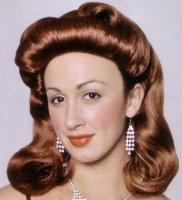FORTIES PINUP GIRL WIG - Brown