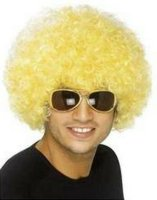 CLOWN WIG - SMALL - Yellow