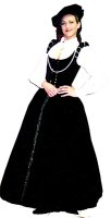 Renaissance Lady Size 4 Small, Black