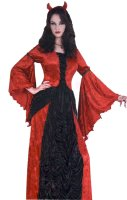 RED & BLACK VELVET DRESS, COSTUME