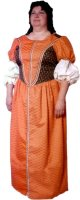 Seventeenth Century Lady - Middle Class Costume Size 16 Large