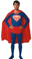 Super Man Costume, Old School, Size SM-MD