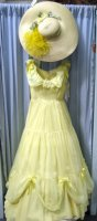 Southern Belle Costume Size 5 -7 SM, Yellow