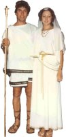 Greek / Roman Lady Costume, White, Size Most