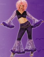 Mardi Gras GO GO GIRL COSTUME, Purple