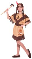 NATIVE AMERICAN PRINCESS COSTUME, Child Sm - Lg