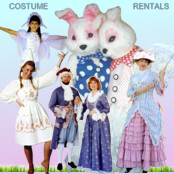 Rental costumes for any time of the year! Easter Bunny Costume Rentals!