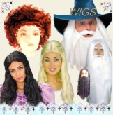 Quality selection of wigs year around! Gibsons, 1920's Fingerwaves, Dreadlocks, Clown wigs. Too many to name them all!
