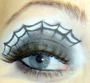 Spider Web Eye Makeup DIY by Ben Nye