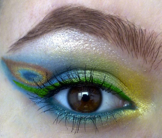Peacock Makeup DIY by Ben Nye