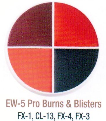 BURNS & BLISTERS PRO WHEEL by Ben Nye Makeup, #EW-5