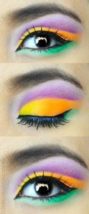 Fun Mardi Gras Eye Makeup DIY by Ben Nye