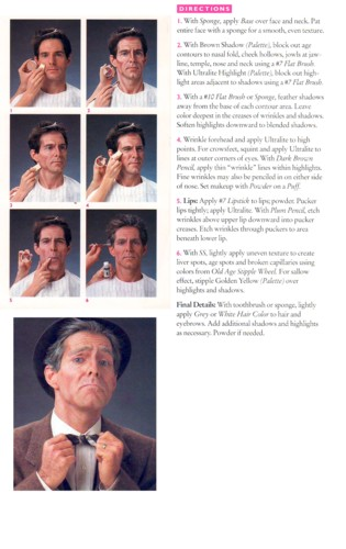 Old Age Makeup Instructions by Ben Nye