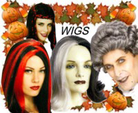 Halloween Wigs, Beards and Mustaches