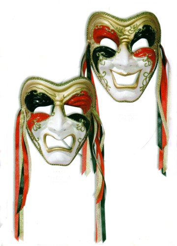 COMEDY TRAGEDY VENETIAN MASKS