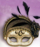 New Year's Eve masquerade masks in all colors!