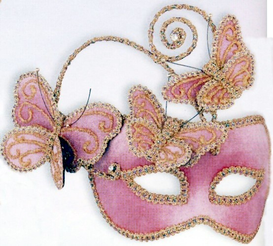 MASQUERADE MASK - PINK BUTTERFLY