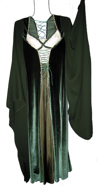 Guinevere Costume, Size Small - Med, Grn & Wht