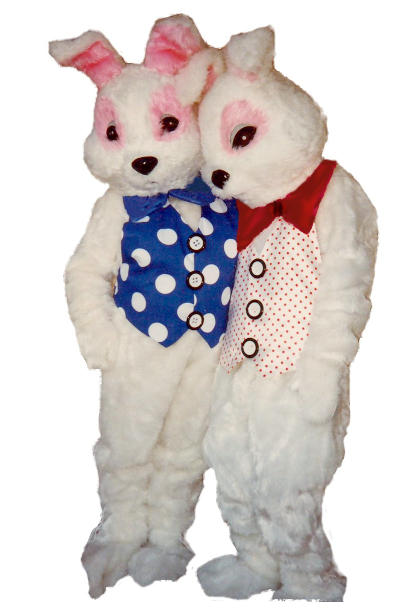 Bunny Costume, Size Most, Red & White