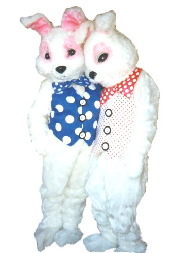Polka Dot Bunny Costume, Size Most