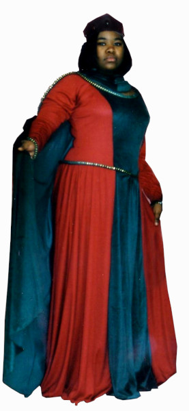 Guinevere Costume, Size Large, Rust