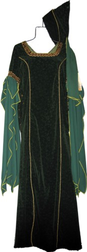 Guinevere Costume, Size Medium - Large, Dk. Green