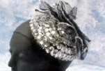 SILVER SEQUIN 1930's HAT