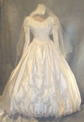 Candlelight Wedding dress full length costumes