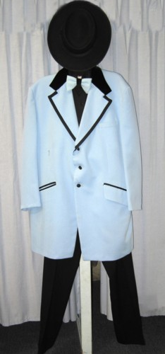 "Riverboat Gambler Man or Boy Costume Size 38S"", XSM, Blu"