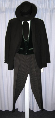 "Riverboat Gambler Costume Size 40S"" SM, Black"
