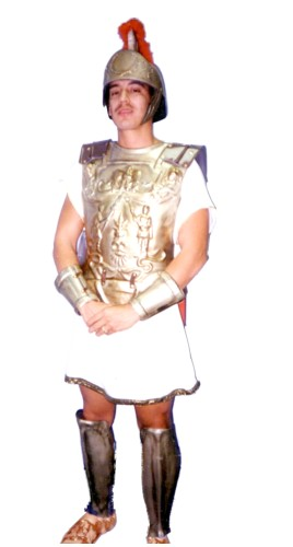Roman Soldier Costume, Gold, Size Most
