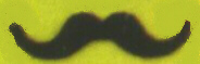 MUSTACHE - CHEAP - CARDED - BRIGIDIER - Black
