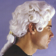 COLONIAL WIG - MALE - Soft White