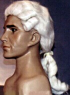 COLONIAL WIG - MALE - White